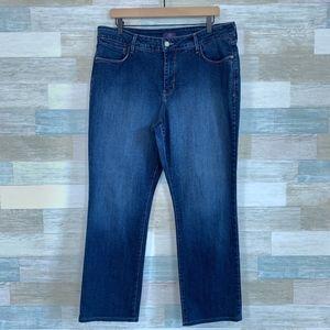 High Rise Straight Leg Jeans Medium Wash NYDJ